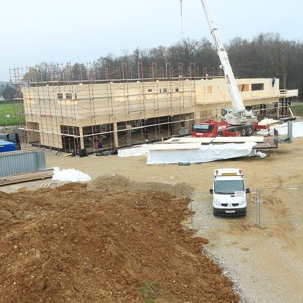 Rasanter Baufortschritt in Adlwang