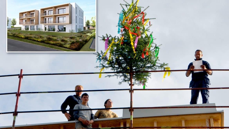 Gleichenfeier beim Vorzeigeprojekt Prambachkirchen