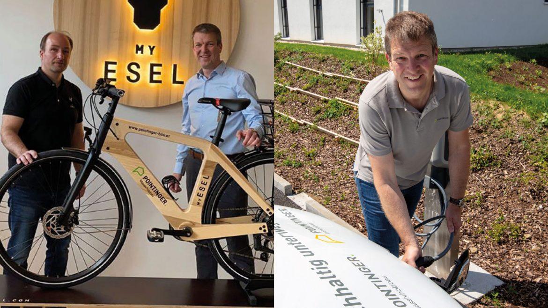 Der Pointinger ist e-mobil unterwegs | Elektroauto und E-Bike aus Holz